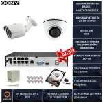 Готовая система видеонаблюдения на 2 камеры 4 мегапикселя с POE Айсон ALFA-2 К1 с жестким диском