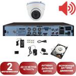 Система видеонаблюдения со звуком Айсон Про С Глаз М с жестким диском