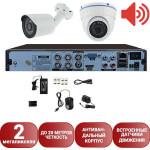 Система видеонаблюдения со звуком Айсон Про С Двор М-1