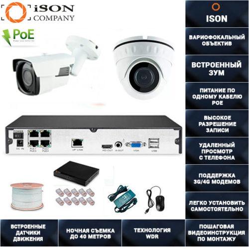 IP система видеонаблюдения 4 мегапикселя айсон MOHO-2 К1