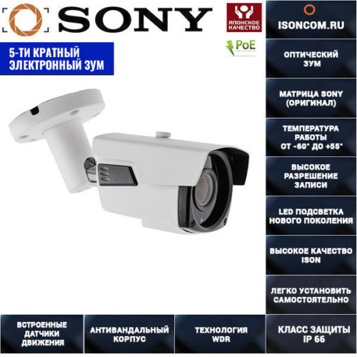 IP камера с электронным зумом POE