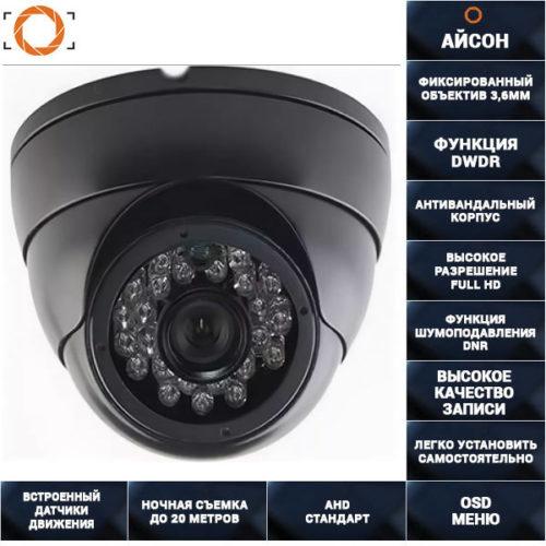 AHD Камера видеонаблюдения 2 мегапикселя AHDSL20HTC200F