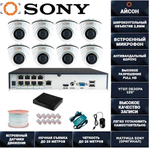 IP система видеонаблюдения со звуком Айсон МОЛ-8
