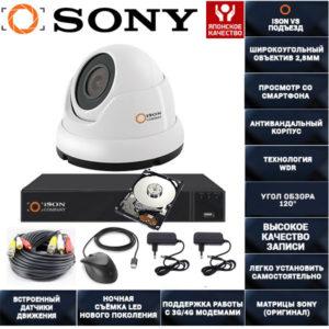 Готовая система видеонаблюдения ISON VS Подъезд-1 с жестким диском