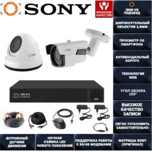 Готовая система видеонаблюдения ISON VS Подъезд--2