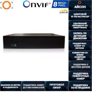 36 канальный IP регистратор 5 мегапикселей IPNVRCB3636