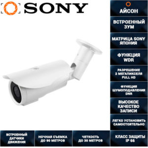 AHD камера видеонаблюдения с зумом 2 мегапикселя 2,8-12 AHDCNS60HTC200S