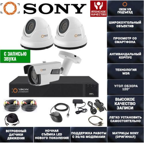 Готовая-система-видеонаблюдения-ISON-VS-Подъезд-3-K2