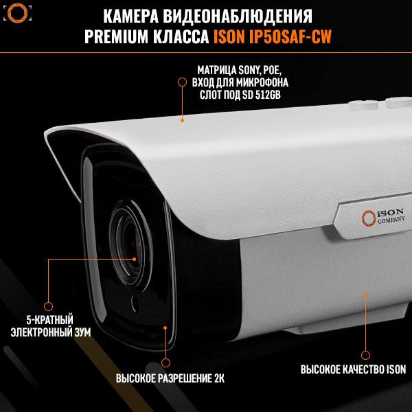 IP камера видеонаблюдения с зумом POE 2,7-13,5 ISON IP50SAF-CW2