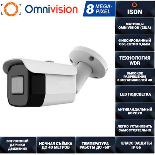 AHD камера видеонаблюдения 8 мегапикселей с POE AHDTA30HTC800V