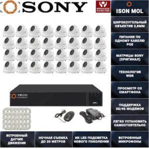IP система видеонаблюдения со звуком на 32 камеры ISON MOL PRO-32