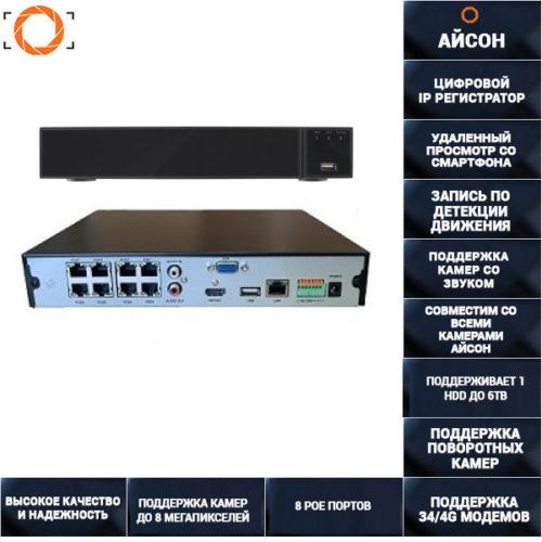 16 канальный (8 POE) IP видеорегистратор IPNVRK1636POE