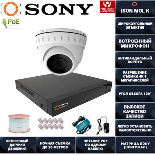 IP POE система видеонаблюдения со звуком ISON MOL K-1