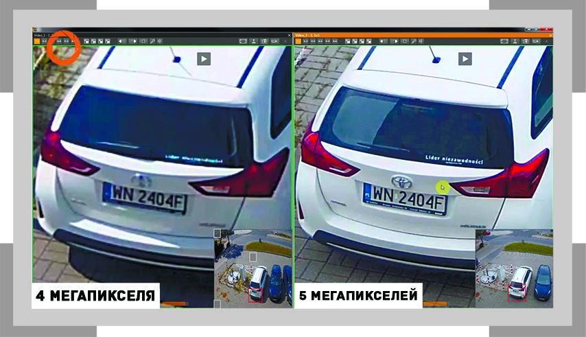 Отличия 4 и 5 мегапиксельных камер видеонаблюдения составляет 20%