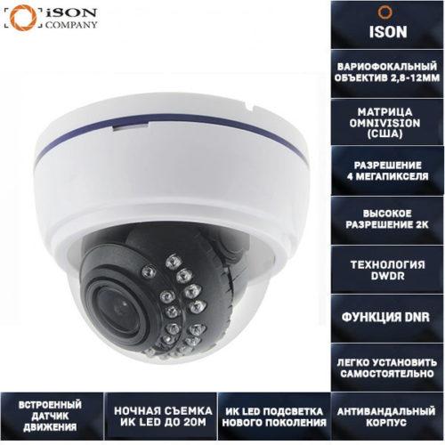 AHD камера видеонаблюдения с зумом 4 мегапикселя 2,8-12мм AHDDZ20HTC500F 4MP