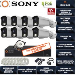 IP POE система видеонаблюдения на 8 камер ISON BLIK-8 с жестким диском