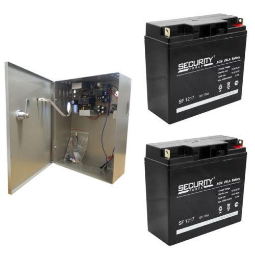 Источник бесперебойного питания для AHD видеонаблюдения 12В Комплект с двумя АКБ