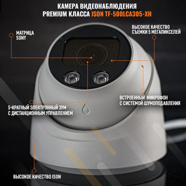 КАМЕРА ВИДЕОНАБЛЮДЕНИЯ ISON TF-500LCA305-XH